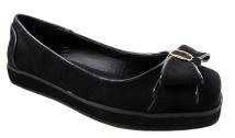 Timeless ladies black bow pump flatform shoes 2