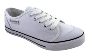 Dunlop Ladies White Canvas Lace Up Trainers - £17.99