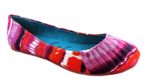 blowfish page pink water colour native print ballet pumps flat shoes