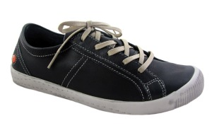 Softinos Womens Irina Navy Lace Up Trainers