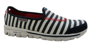 Skechers Go Walk Americana Navy Stripe