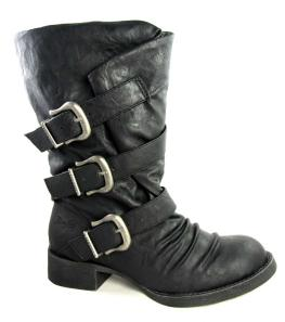 Blowfish Kasbah Black Strap Biker Boots - £74.99
