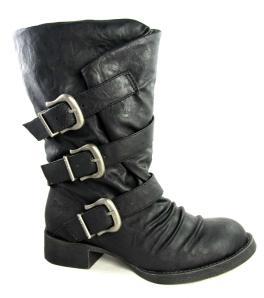 Blowfish Kasbah Black Strap Biker Boots - £74.99