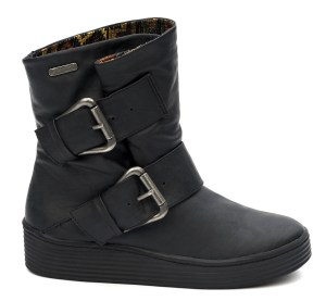 Blowfish Barnaby Black Wedge Ankle Boots - £62.99