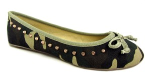 Dolcis Studded Camouflage Ballerina Flat Shoes - £12.99
