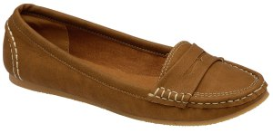 Odeon Tan Flat Loafer Shoes - £18.99