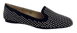Dolcis Black Studded Flat Slipper Shoes - £19.99