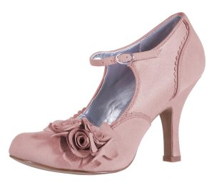 Ruby Shoo Alice Dusky Pink Flower Mary Jane Shoes
