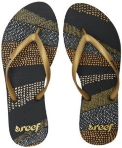 Reef Womens De Rio Flip Flops Black/Metallic - £14.99