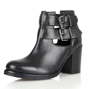 Ravel Montana Womens Black Leather Cut Out Ankle Boots - £79.99