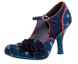 Ruby Shoo Ashley Navy Blue Floral Mary Jane Shoes - £44.99