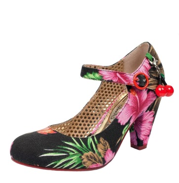 poetic-licence-the-right-stripes-womens-ladies-black-multi-pink-floral-print-high-heel-mary-jane-fashion-shoes